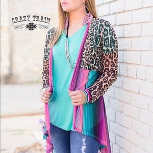 Crazy Train Sweaters - Pink Cadillac Cardigan by Crazy Train